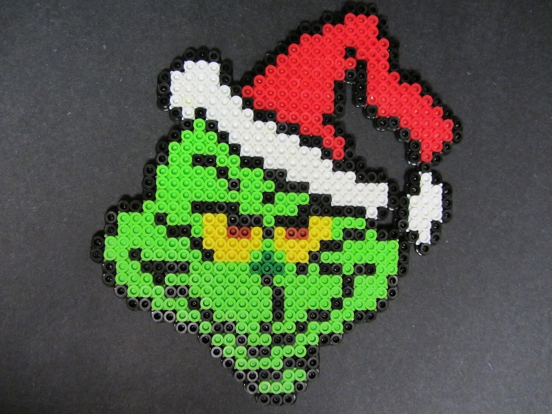 Christmas Hama Beads.You Re A Rotter Mr Grinch Hardcore Perler