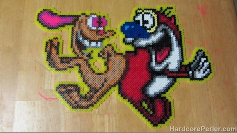 ren-and-stimpy-perler